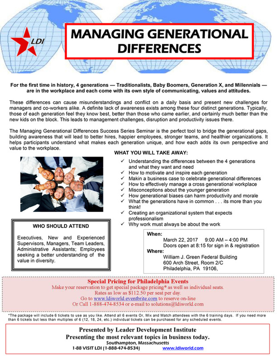 managing generational differences leader development institute click here to print